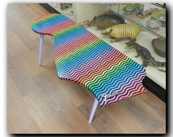 Fender Guitar Psychedelic Coffee Table