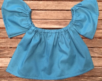 off the shoulder top - peasant top -childrens blouse - toddler clothing - baby girl clothing -hippie-coachella-boho-strapless top-boho kids