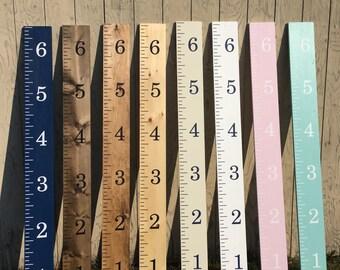 Wooden Ruler Growth Chart, Growth Chart, Boy Nursery Decor, Baby Shower Gift, Height Chart, Ruler Height Chart