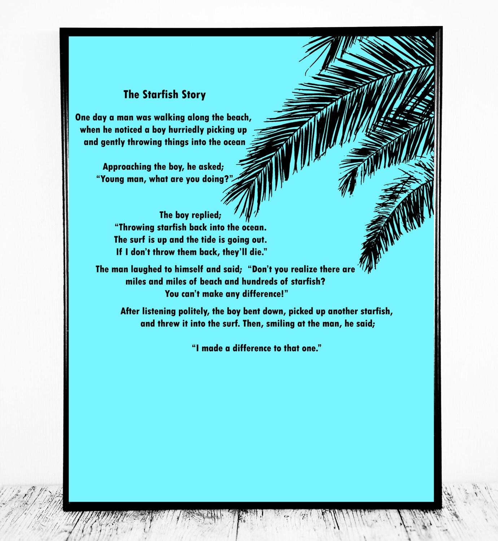 Starfish poem card - 1