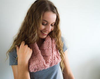 READY TO SHIP | The Rose Cowl | Knitted Cowl | Knitted Scarf