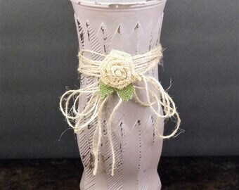 Shabby Chic Floral Vase