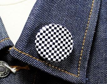 Classic Checkerboard | Twin Tone Ska Inspired 1 1/4 Inch pinback button