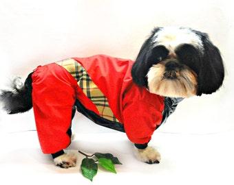 Dog Clothing -  Dog Raincoat - Dog clothes - small pet clothes - Dog Coat - pet clothing - waterproof