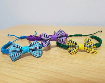 Colored Bowtie Hemp Bracelets