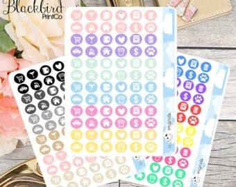 Icon Stickers - Mini Sheet | Planner Stickers [BR0006]