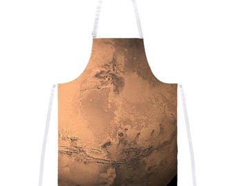 Solar System Planet Mars All Over Apron