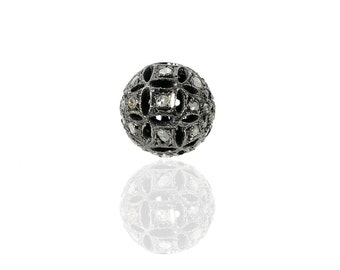 SDC-1158 - Bead -Pave diamond charm
