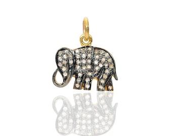 SDC-1695 elephant Pave Diamond Charm