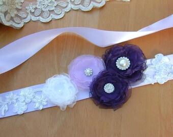 Wedding Sash, Bridesmaid sash, Flower-girl Sash