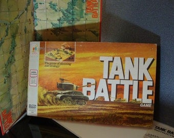 Tank Battle 1975 Milton Bradley's Game of Planning and Strategy Incomplete Vintage Board Game