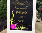 Wedding Welcome Sign - Reception Sign - Wedding Signs - Wedding Chalkboard Sign - Chalkboard Sign - Chalkboard Easel - Chic Wedding