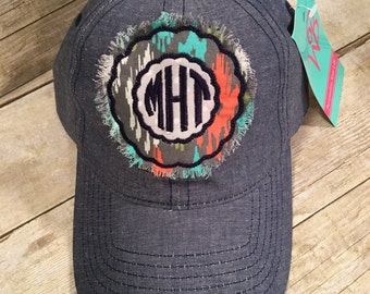 Monogrammed raggy patch hat, personalized baseball hat, baseball cap, womens hat, yoga hat, christmas gift idea,  gift for her, coach gift