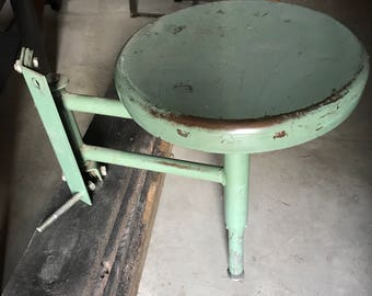 Vintage 70's Swing-out Stool