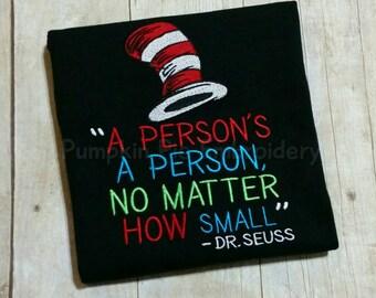 Dr. Seuss Shirt A Person's A Person