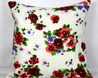 Floral pillow floral pillow case floral pillow cover 20x20 pillow cover 18x18 pillow cover decorative throw pillows sofa pillow covers 16x16