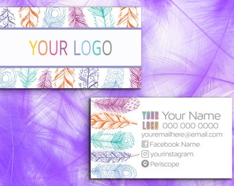 Feather Business Card