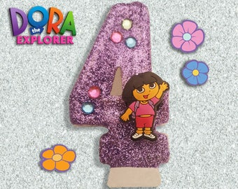 Dora The Explorer Birthday Candle (FREE DELIVERY on 2nd candle)