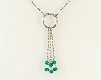 Green Dangle Pendant Necklace