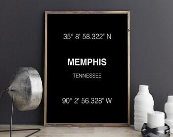Memphis Print Memphis Coordinates Memphis Poster Memphis Art Print Wall Art