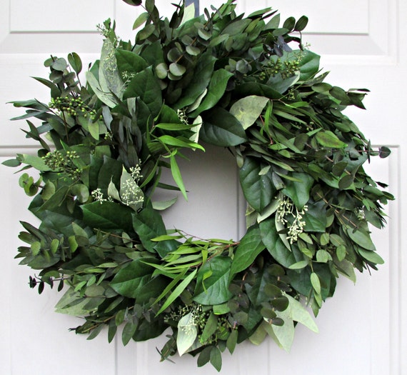 Preserved eucalyptus wreath, custom sizes, seeded eucalyptus wreath, leaf wreath, preserved wreath, decorative wreath, decorative wreath