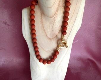 Jasper necklace, necklace, red, Jasper necklace, necklace, OOAK, statement necklace, handmade, unique