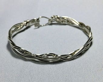 Wire Formed Sterling Silver Bracelet  - #11809