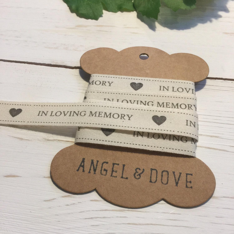 in loving memory printed cotton ribbon 3m yard spool funeral