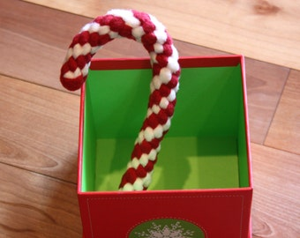 Fleece Tug Toys, Braided Candy Cane Dog Toy, Holiday Knotted Rope, Durable and Washable, Ready to Ship, aDOGable Essentials