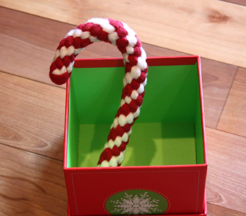 Make Dog Tug Toy: Fleece Tug Toys Braided Candy Cane Dog Toy Holiday Knotted