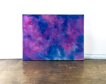 Electric Blue & Pink Galaxy Painting