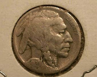 """1920 -""""S"""" US Buffalo Nickel Good"""