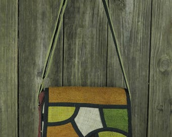 Hemp Mosaic Messenger bag