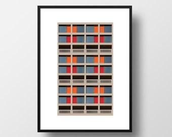 BRUTALIST ARCHITECTURE / Poster / Print / Sheffield