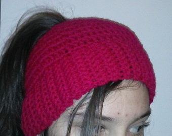 Pony Tale Hat In Magenta's color