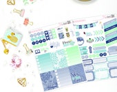 Blue Skies - Planner Stickers, Weekly Sticker Set, Quote Stickers, Full Boxes,  Blue Weekly,  Weekly Stickers, Weekly Sets, Planning