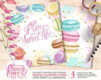 Printable Planner/Binder Cover Set - Macarons | For Happy Planner | Erin Condren | U.S. Letter Binders | Instant Download