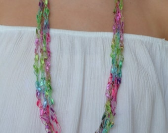 Colors of the Rainbow (Ladder Yarn Necklace)