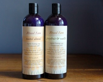 Organic foaming soap concentrate- 16 oz