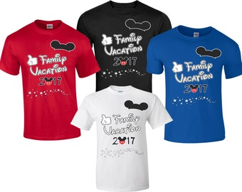 Family VACATION 2017 Mickey and Minnie Disney funny cute Customized T-Shirts