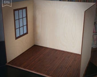 1/6 Scale Unfinished  Roombox For Blythe Azone Momoko etc