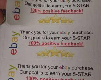 300 ebay five star feedback labels