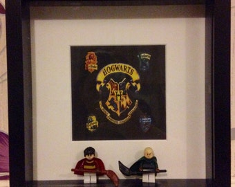 Harry Potter themed Harry Potter and Draco Malfoy Quidditch mini figure frame