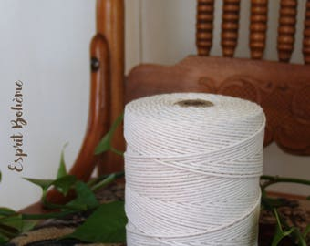 2 mm, Cotton string, cotton rope, natural cotton