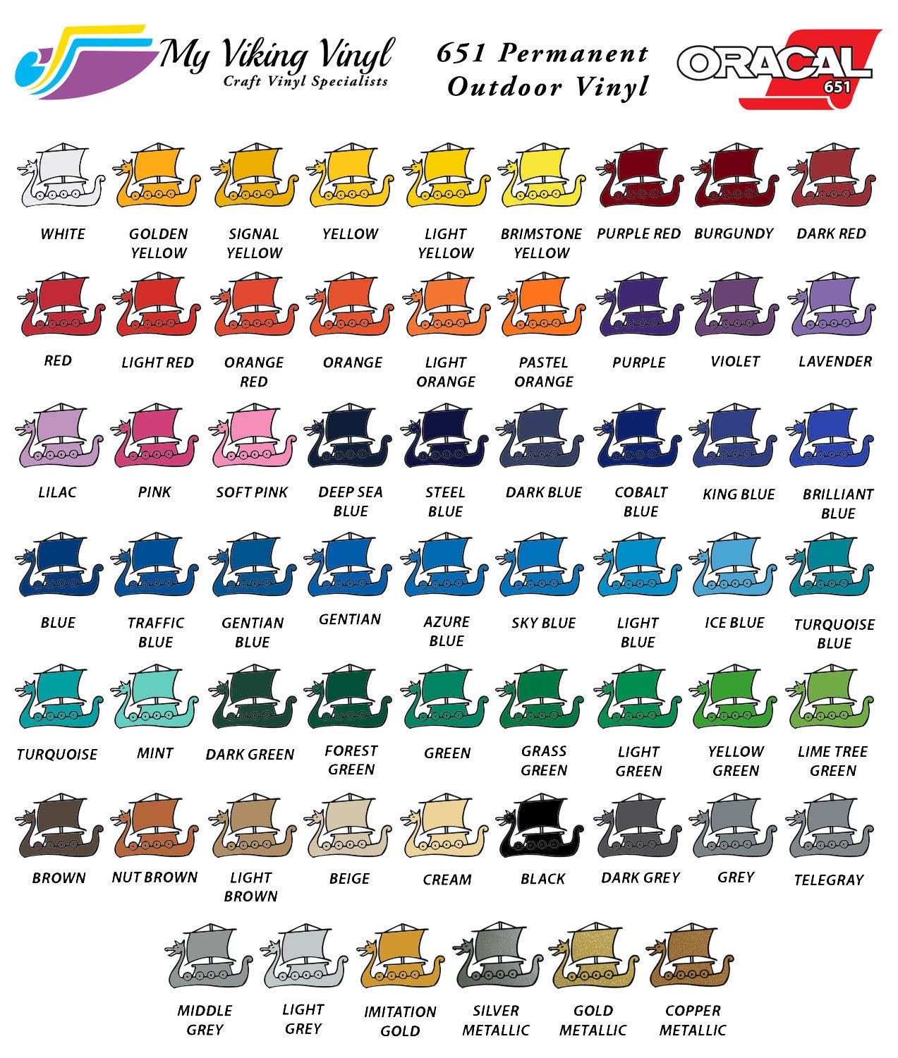 099 - Cricut Vinyl Colors