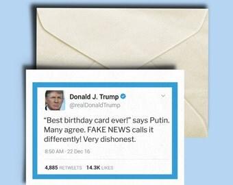 Trump Birthday Card - Best Card EVER - Tweet Card