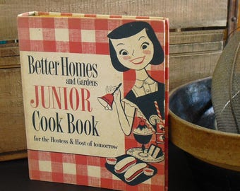 Vintage Better Homes and Gardens Junior Cook Book for the Hostess & Host of Tomorrow, First Edition, 1955, Cookbook for Young Adults, Kids