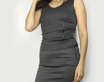 Pinstripe Body Con Two Piece Dress Size 6