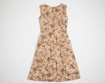 VINTAGE SILK DRESS 1950