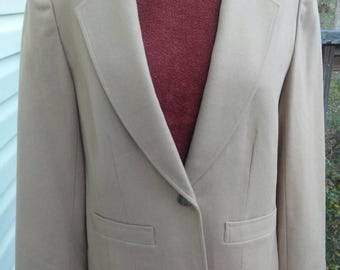 Vintage Camel Blazer, Wool 70's Pendleton Blazer, Camel Blazer, Pure Virgin Wool, Vintage Wool Blazer, Made in USA